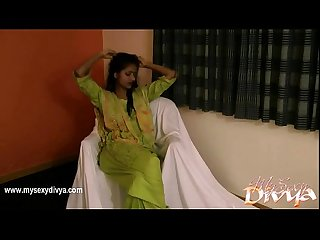 Indian College Girl Divya In Green Shalwar Suit Getting Naked